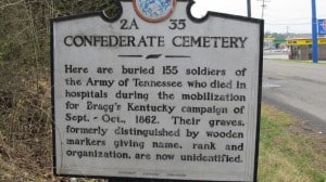 Historical Fiction author Jessica James visits Confederate Cemetery