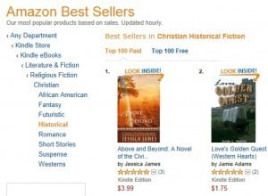 Above and Beyond #1 in Christian Historical Fiction on Amazon