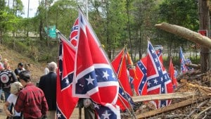 Historical Fiction author Jessica James attends Confederate flag raising