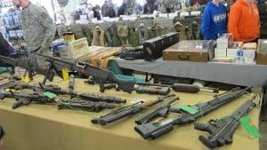 military suspense author attends gun show
