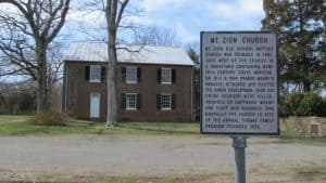 Mt Zion church in Mosby's Confederacy