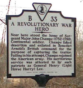 john champe revolutionary war hero